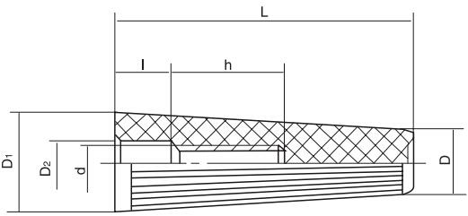 HY8311.25直纹锥形手柄套结构图