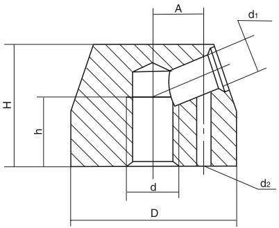 HY8312.2锁紧手柄座结构图