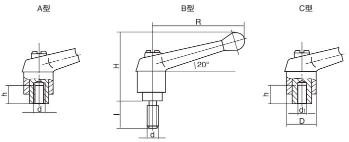 HY8310.12-3可调位紧定手柄结构图