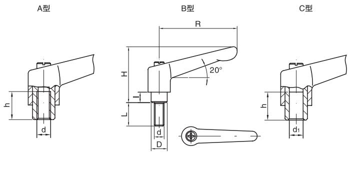 HY8310.12-7可调位紧定手柄结构图