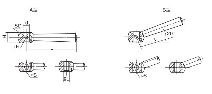 HY8310.7锥柱手柄结构图