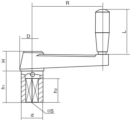 HY8310.23带套筒摇手柄结构图