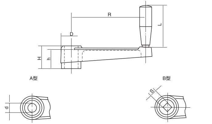 HY8310.24摇手柄结构图