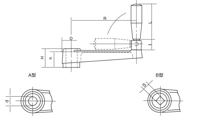 HY8310.25可折摇手柄结构图