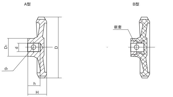 HY8313.1小波纹手轮结构图