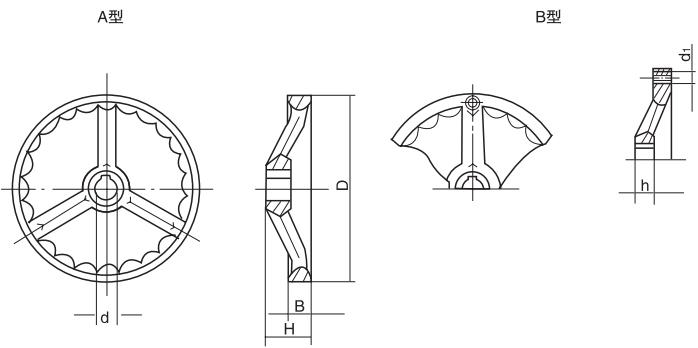 HY8313.4波纹手轮结构图
