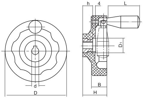 HY8313.7内波纹手轮结构图