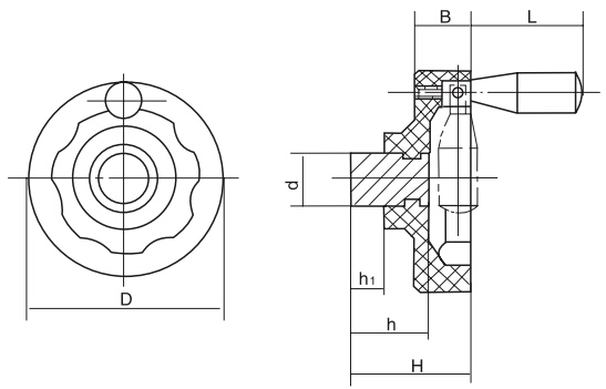 HY8313.7-1内波纹手轮结构图