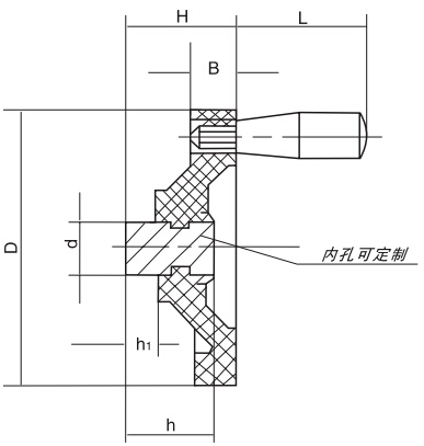 HY8313.8-1背面波纹手轮结构图