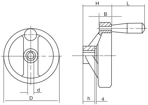 HY8313.9双辐条手轮结构图