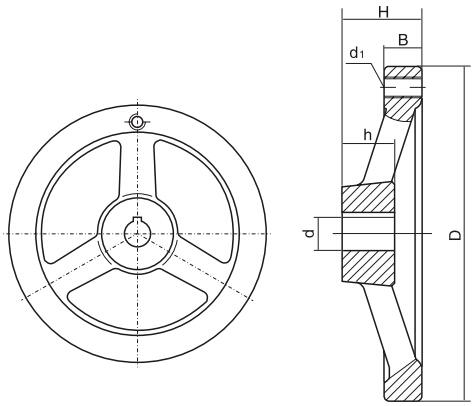 HY8313.13轮辐手轮结构图