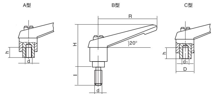 HY8310.12-2可调位紧定手柄结构图