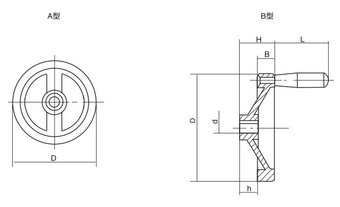 HY8313.24双辐条手轮结构图