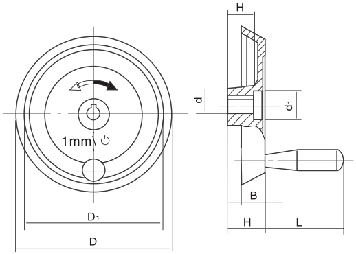 HY8313.30指示手轮j结构图