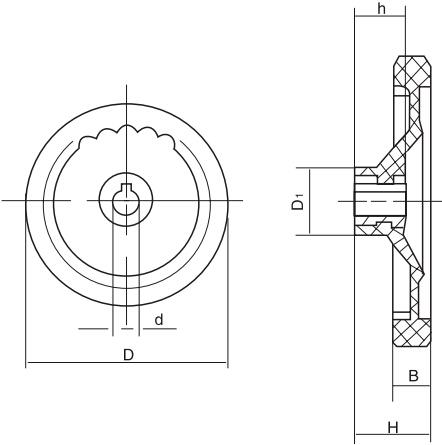 HY8313.32背面波纹手轮结构图