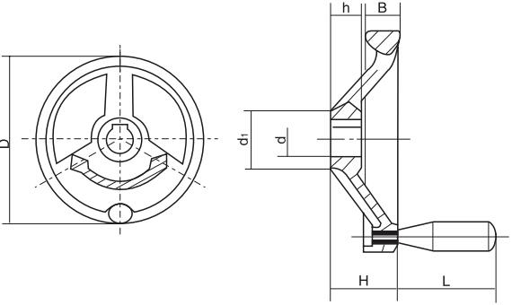 HY8313.37偏重手轮结构图