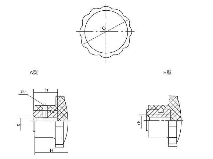 HY8314.2压花把手结构图