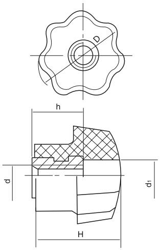 HY8314.4-1通孔星型把手结构图