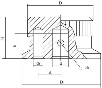 HY8314.5定位把手结构图