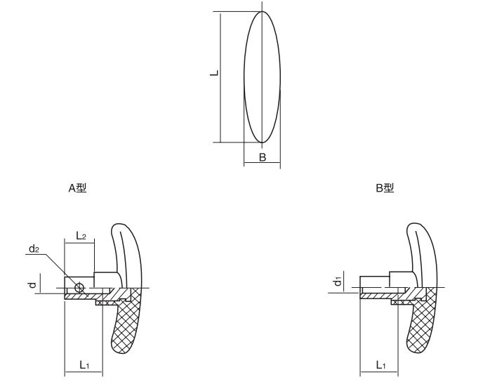 HY8314.6T型把手结构图