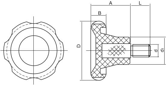 HY8314.9波纹把手结构图