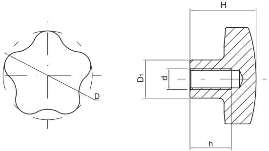 HY8314.22-1五角星形把手结构图