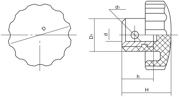 HY8314.25旋转把手结构图