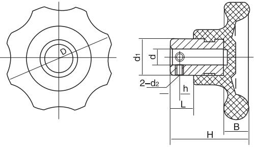HY8314.26圆轮波纹把手结构图