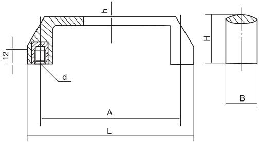 HY8315.2方形拉手结构图