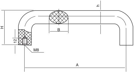 HY8315.3椭圆拉手结构图