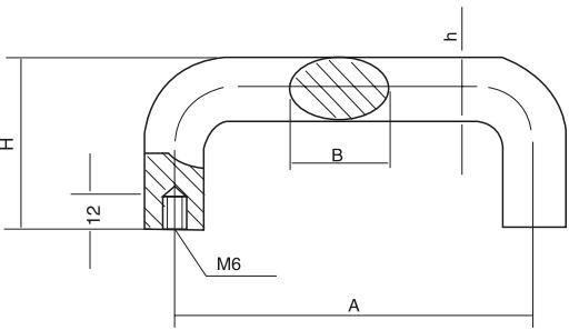 HY8315.4椭圆拉手结构图