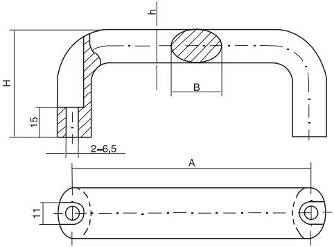 HY8315.4-1椭圆拉手结构图