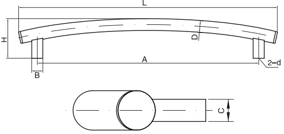 HY8315.12弧形拉手结构图
