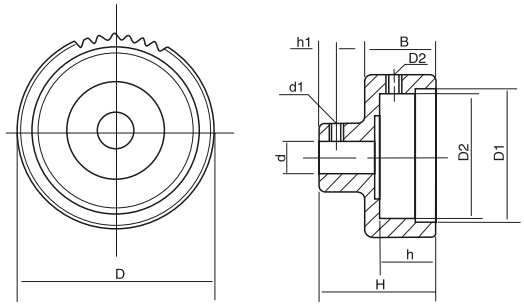 TBL-1直纹表盘手轮结构图