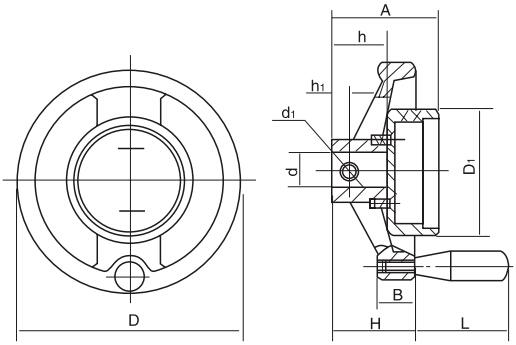 TBL-4双辐表盘手轮结构图