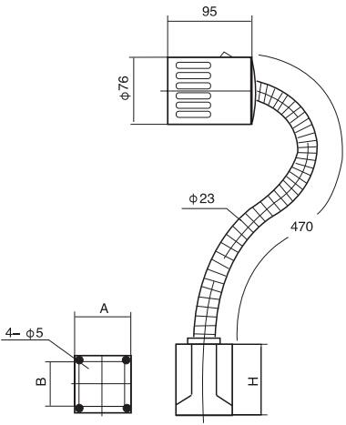JD-01\JD-11工作灯结构图