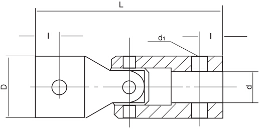 HY8330.1小型十字万向联轴节结构图