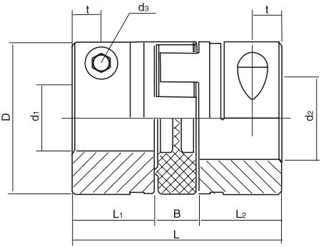 夹紧式弹性联轴节结构图