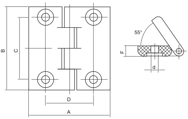 HY8333.1合页结构图