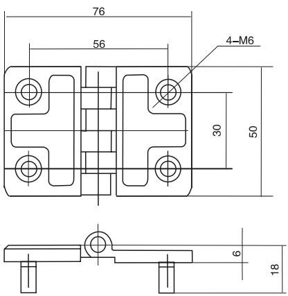 HY8333.4合页结构图