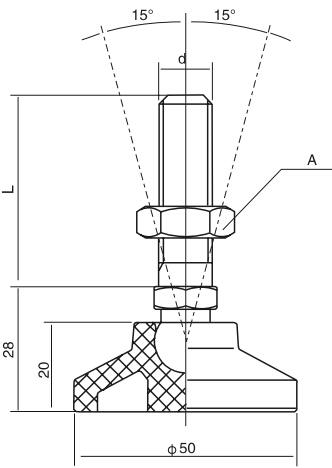 HY8315.13垫脚结构图