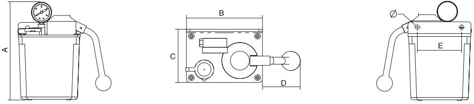 HY8318.4自动卸荷稀油手动润滑泵结构图