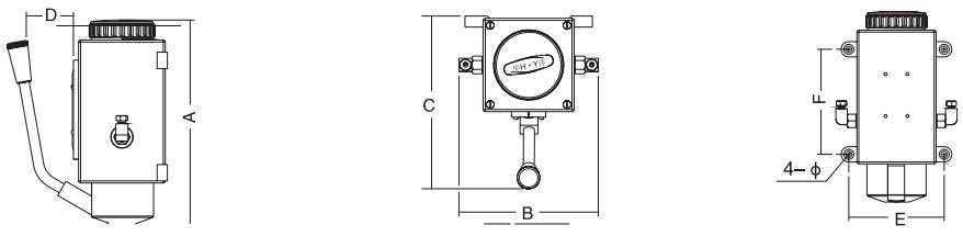 HY8318.5稀油手动润滑泵结构图