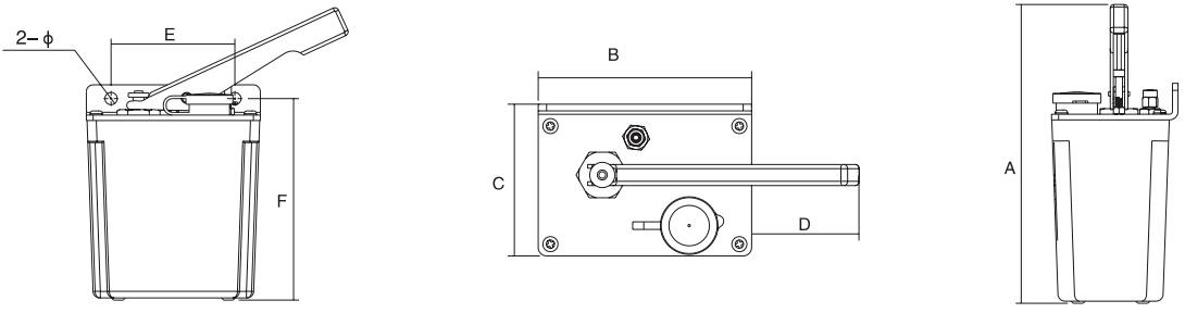 HY8318.6手压式润滑泵结构图