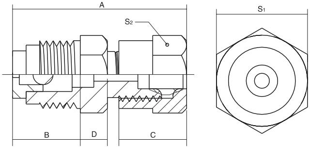 HY8318.15分流止回出油器结构图