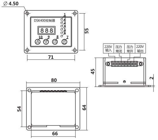HY8318.16自动润滑控制仪结构图