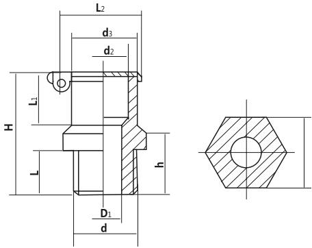 HY8317.5弹簧盖式油杯结构图