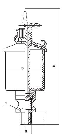 HY8317.6针阀式油杯结构图