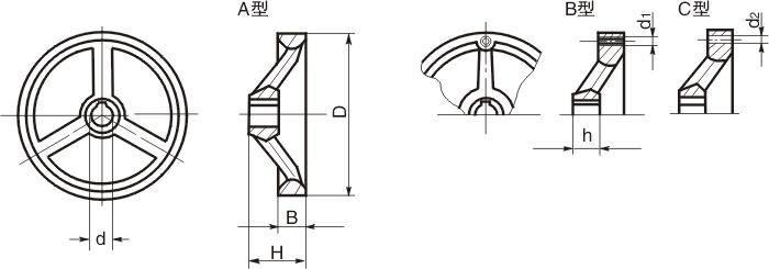 HY8313.3三辐手轮结构图